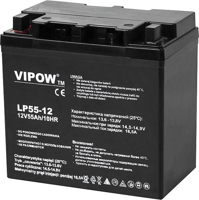akumulator żelowy Vipow 12V 55 Ah BAT0223