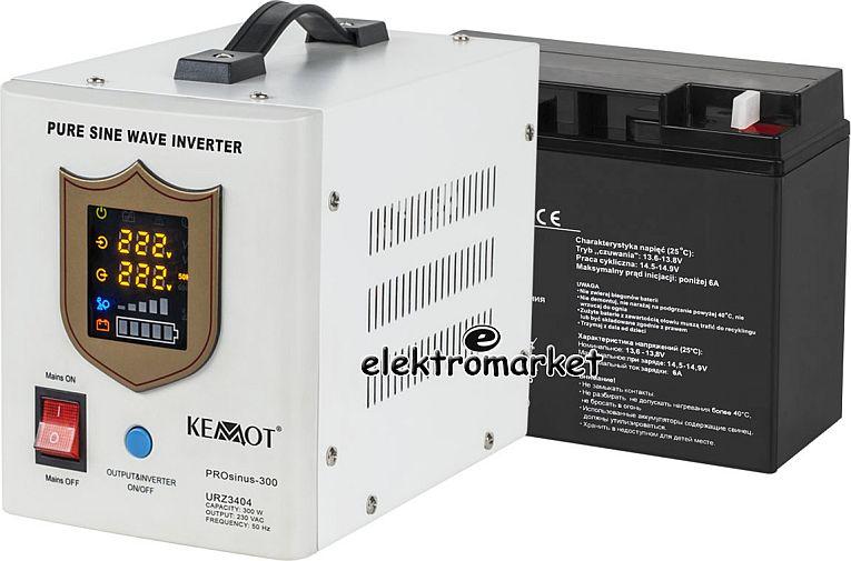 awaryjne zasilanie zestaw: przetwornica + akumulator
