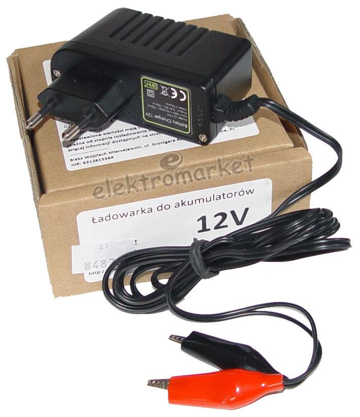 Ładowarka do akumulatorów żelowych 12V 3-9 Ah z pudełkiem