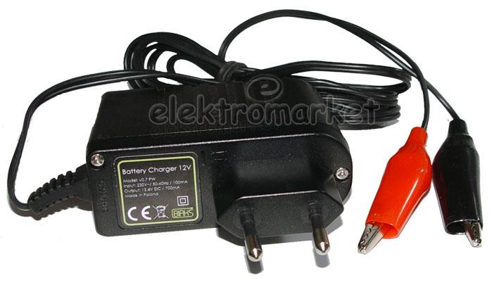 Ładowarka do akumulatorów żelowych 12V 3-9 Ah
