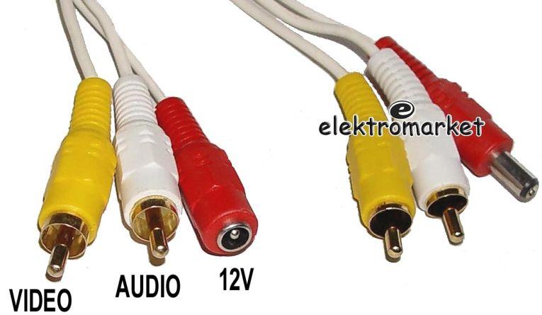 kabel CCTV 10 m - końcówki