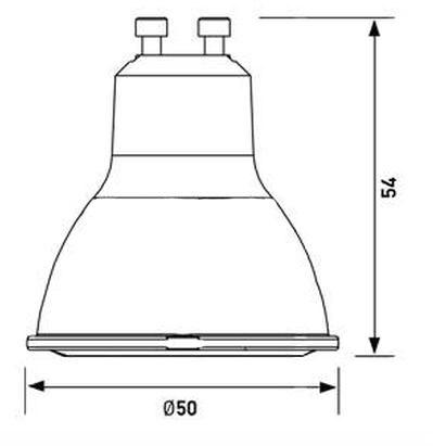 rozmiary Lampa LED 8W GU10 ZAR0432