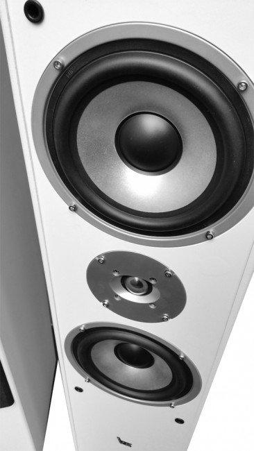 Kolumny podłogowe Voice Kraft VK-1004 białe zbliżenie