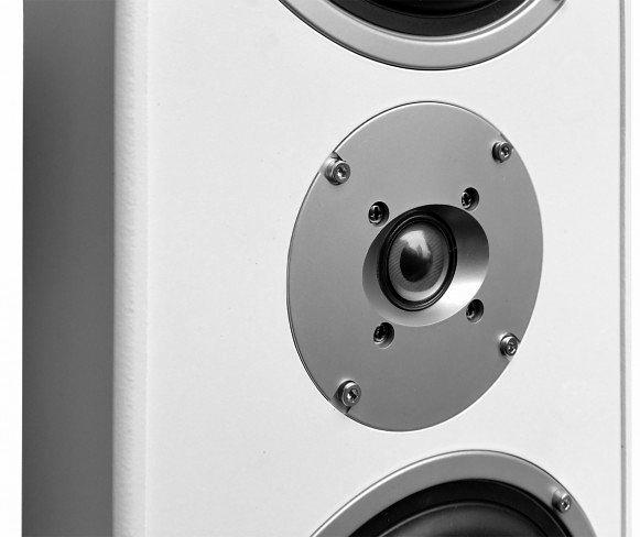 Kolumny podłogowe Voice Kraft białe VK-1004 zbliżenie