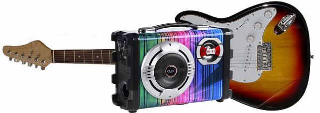 wzmacniacz gitarowy - zestaw głośnikowy Quer z MP3, Bluetooth, radio FM