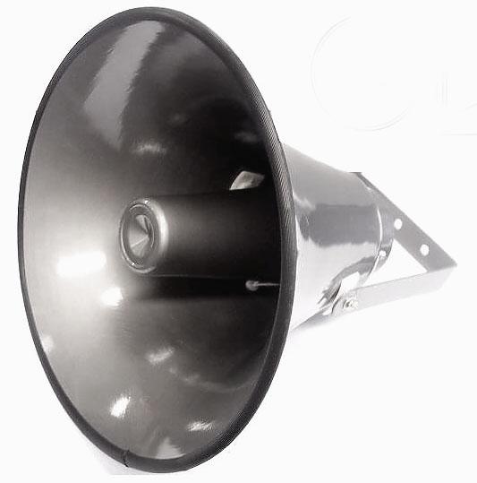megafon tubowy 25cm HT60358 z wyciągniętym uchwytem
