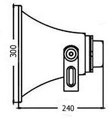 megafon horn HT60359 rozmiary