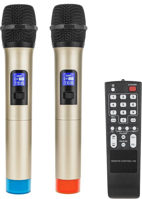 kolumna aktywna azusa MIK0145 - mikrofony bezprzewodowe + pilot
