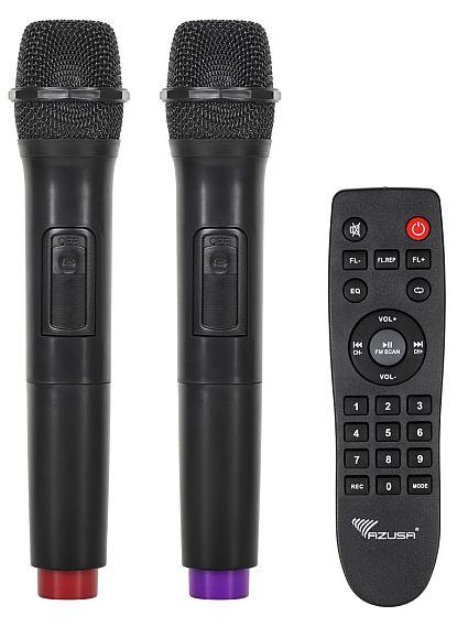 kolumna aktywna AZUSA MIK0144 2 mikrofony bezprzewodowe + pilot zdalnego sterowania