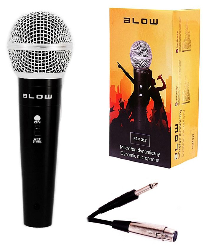 Mikrofon PRM317 BLOW pudelko kabel