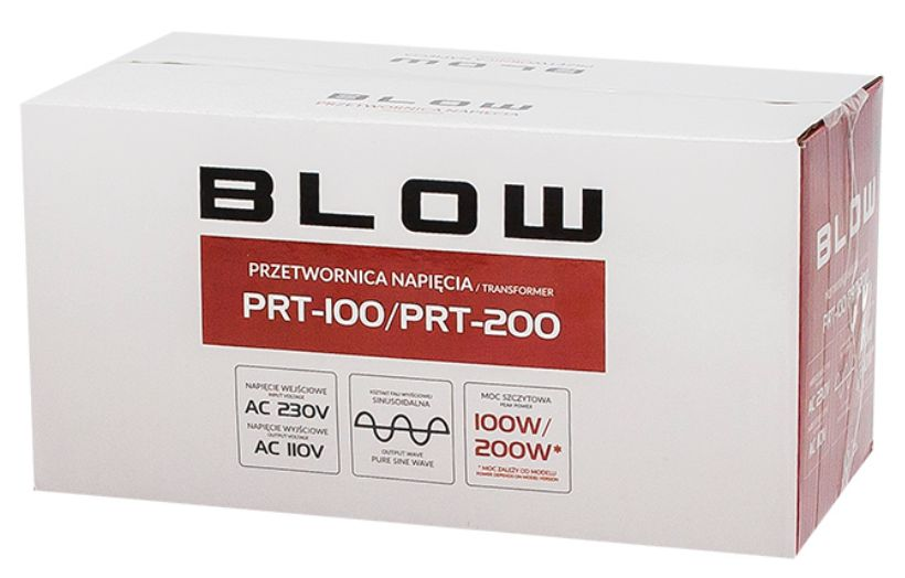 przetwornica transformator BLOW PRT-200W box
