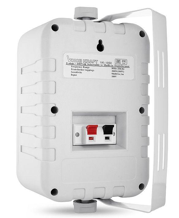 głośnik VK-1050 biały tył - terminale