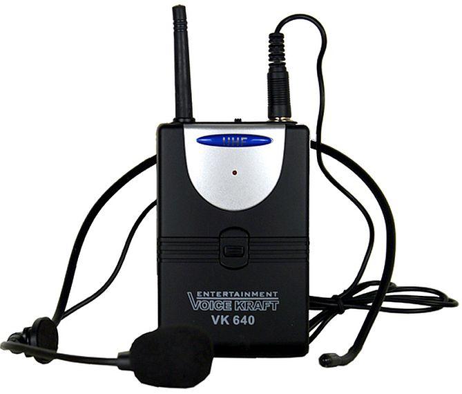 mikrofon bezprzewodowy nagłowny Voice Kraft VK 640 z nadajnikiem