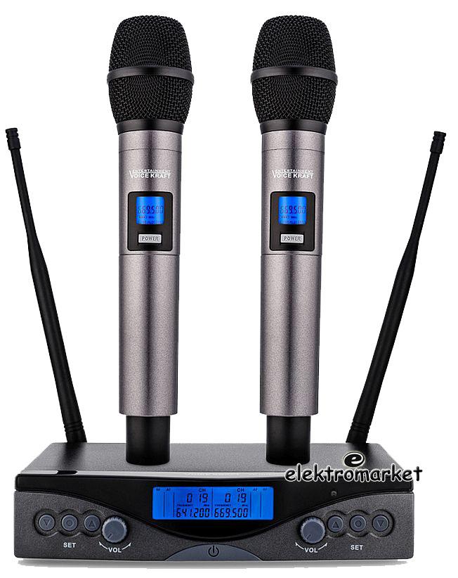 zestaw 2 mikrofonów bezprzewodowych VK UHF-200