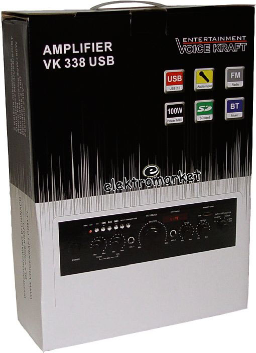 wzmacniacz VK 338 Voice Kraft - pudełko - box