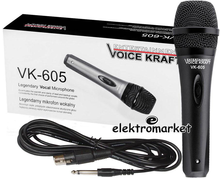metalowy mikrofon dynamiczny Voice Kraft VK650
