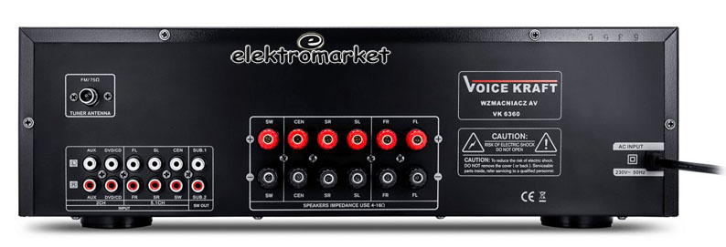 Wzmacniacz VK-6360 panel tylny