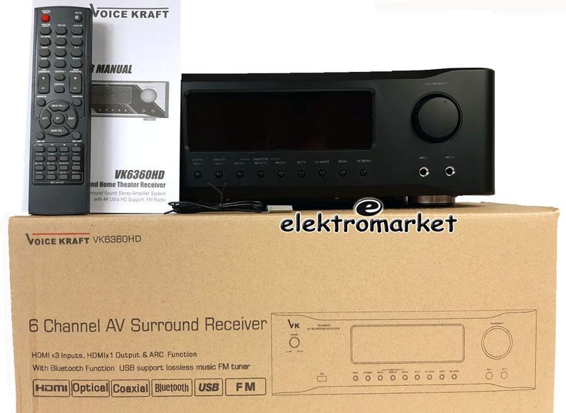 Wzmacniacz VK-6360 całość z pudełkiem
