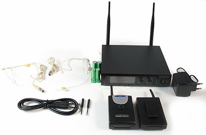 zestaw bezprzewodowy nagłowny dwukanałowy VK 670B