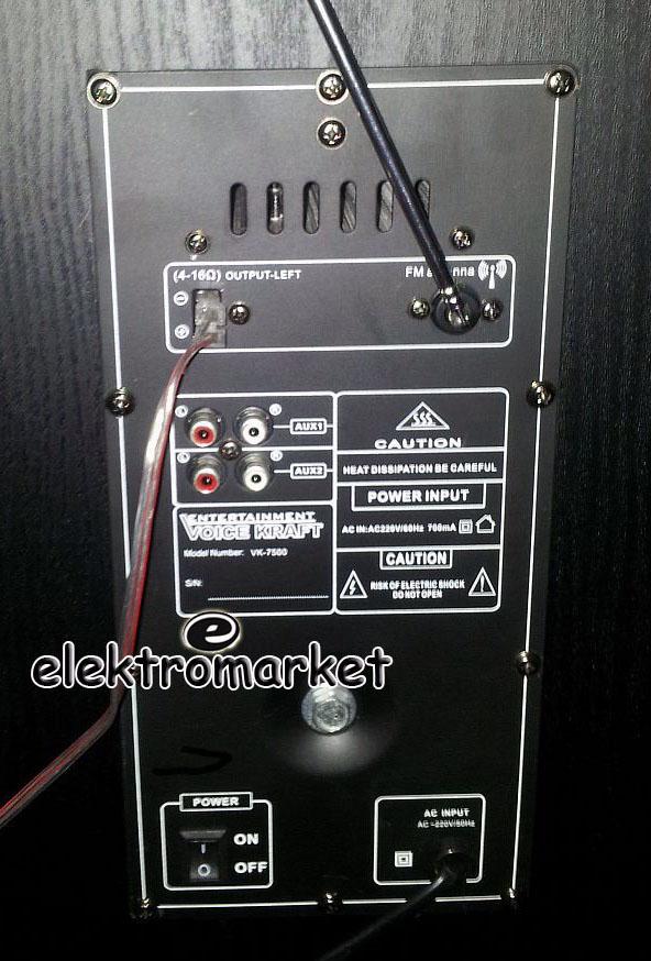 VK-7500 tylny panel