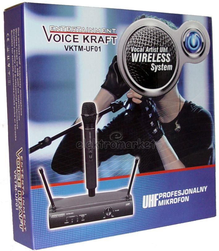 mikrofon bezprzewodowy UHF VK-UF01 - box