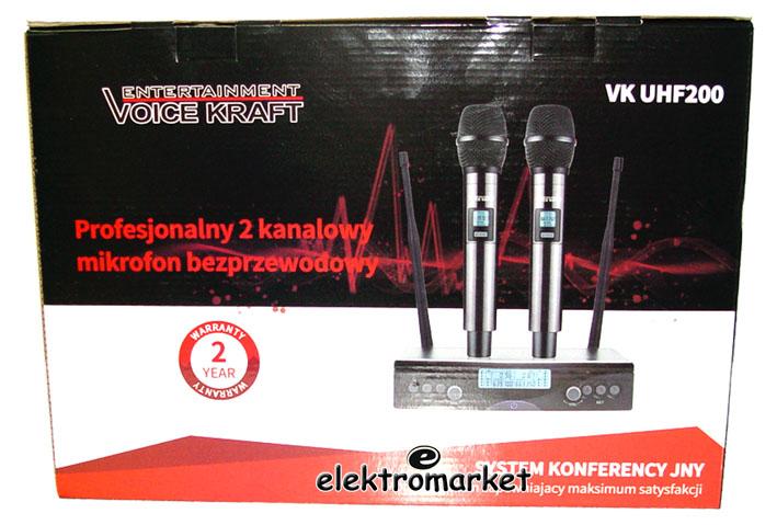 Box mikrofonów bezprzewodowych VK UHF-200