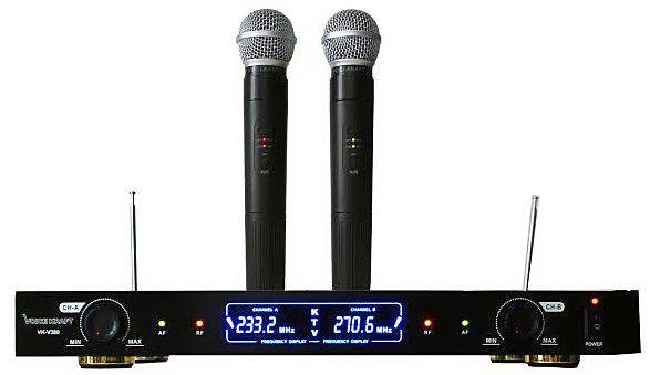 dwa mikrofony bezprzewodowe VHF Voice Kraft VK-380