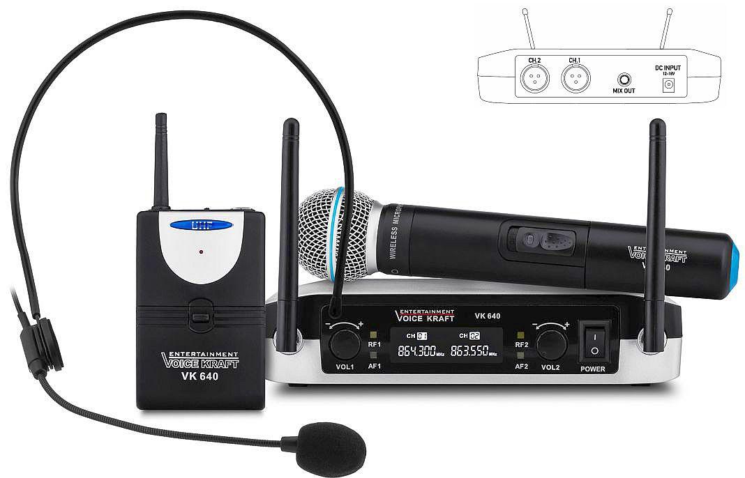 mikrofony bezprzewodowe UHF VK-640