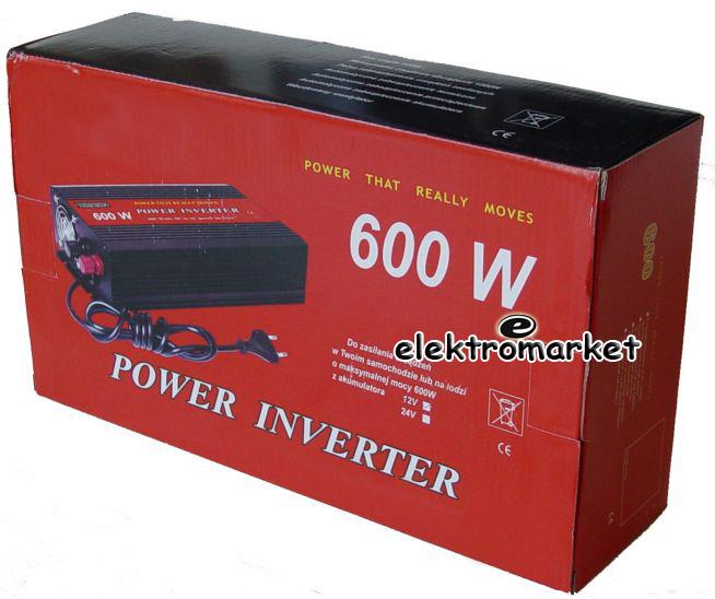 przetwornica inverter VK 600 SPI 12V-230V box