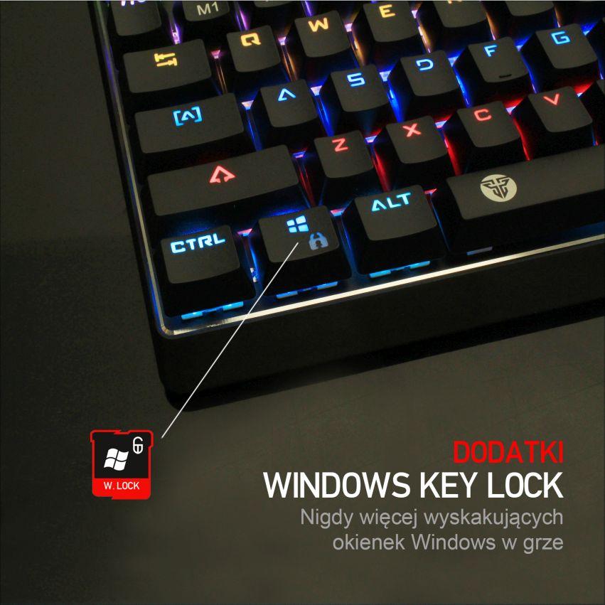klawiatura mechaniczna Fantech MK871 key lock