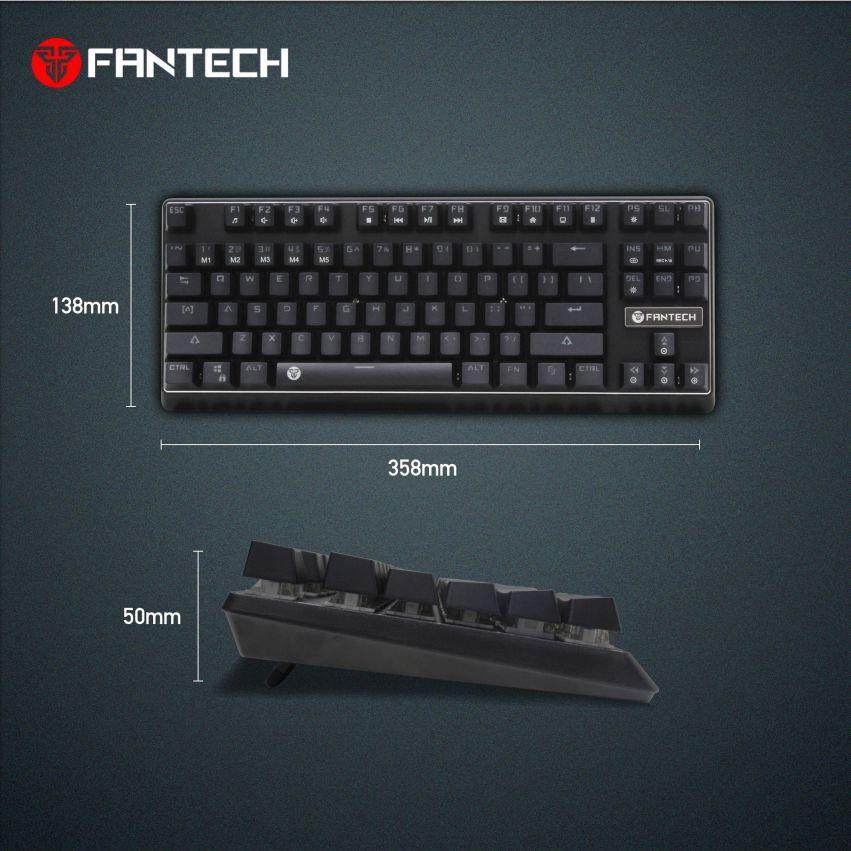 klawiatura mechaniczna Fantech MK871 rozmiary