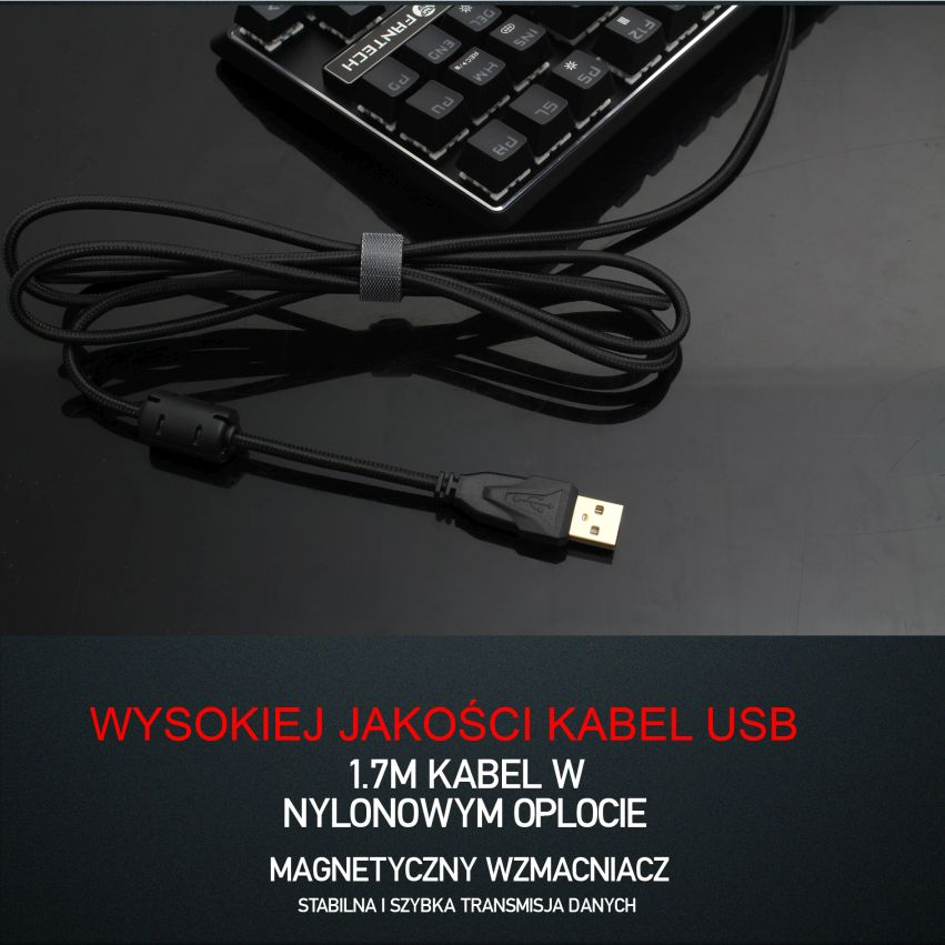 klawiatura mechaniczna Fantech MK871 kabel