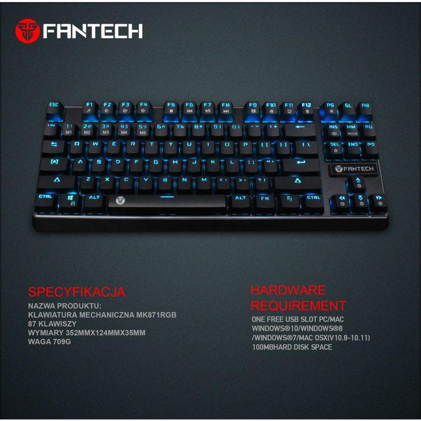 klawiatura mechaniczna Fantech MK871 specyfikacja