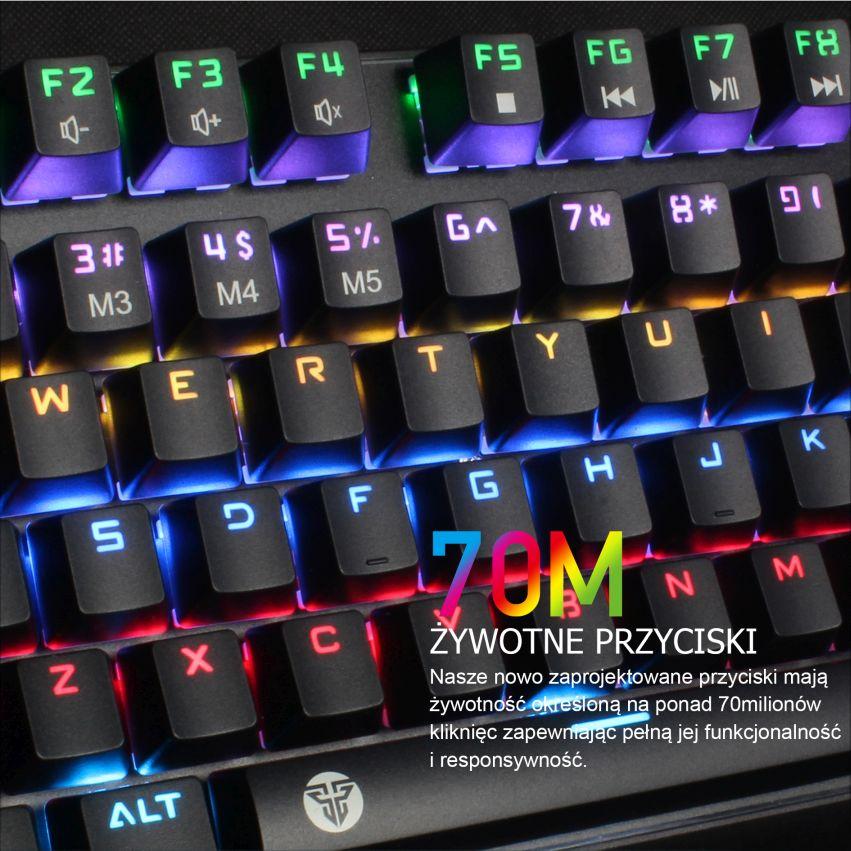 klawiatura mechaniczna Fantech MK871 przyciski