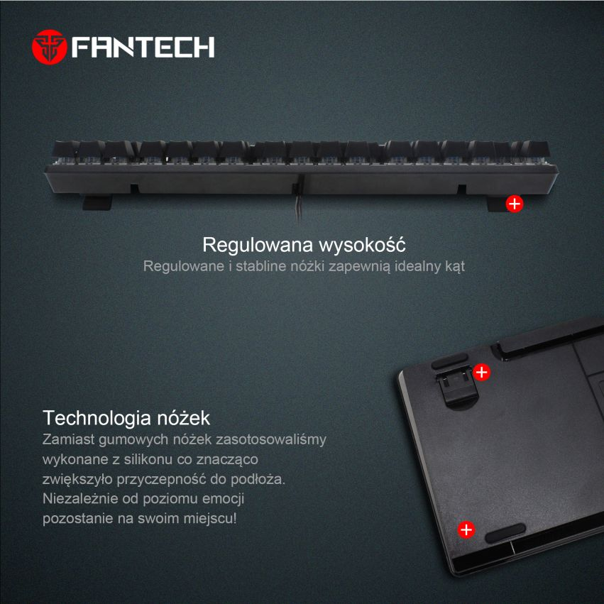 klawiatura mechaniczna Fantech MK871 nóżki