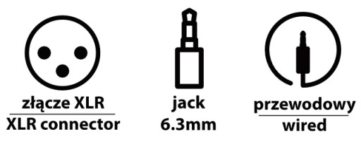 XLR - jack 6,3mm
