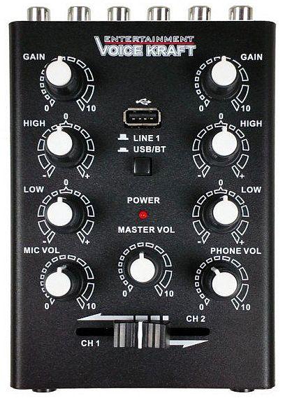 mikser audio VK-500BT widok z góry