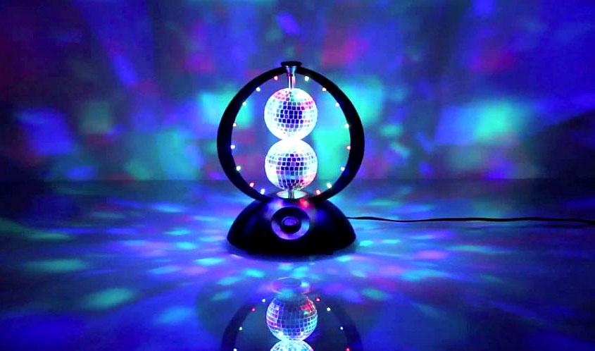 lampa disco MBL 03-2 w akcji