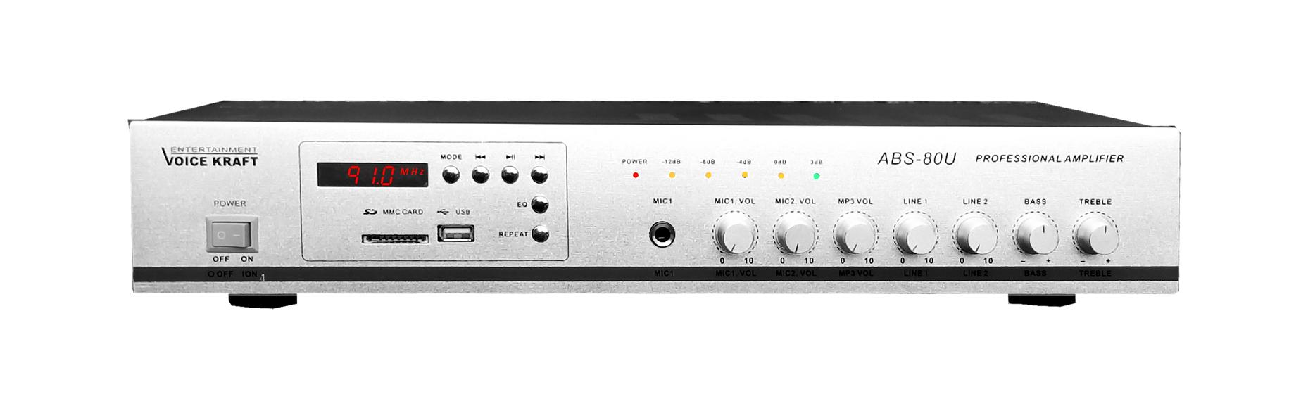 Wzmacniacz amplituner ABS-80U srebrny