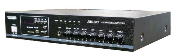 Wzmacniacz amplituner ABS-80U czarny przód