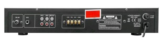 Wzmacniacz amplituner ABS-80U czarny - tył