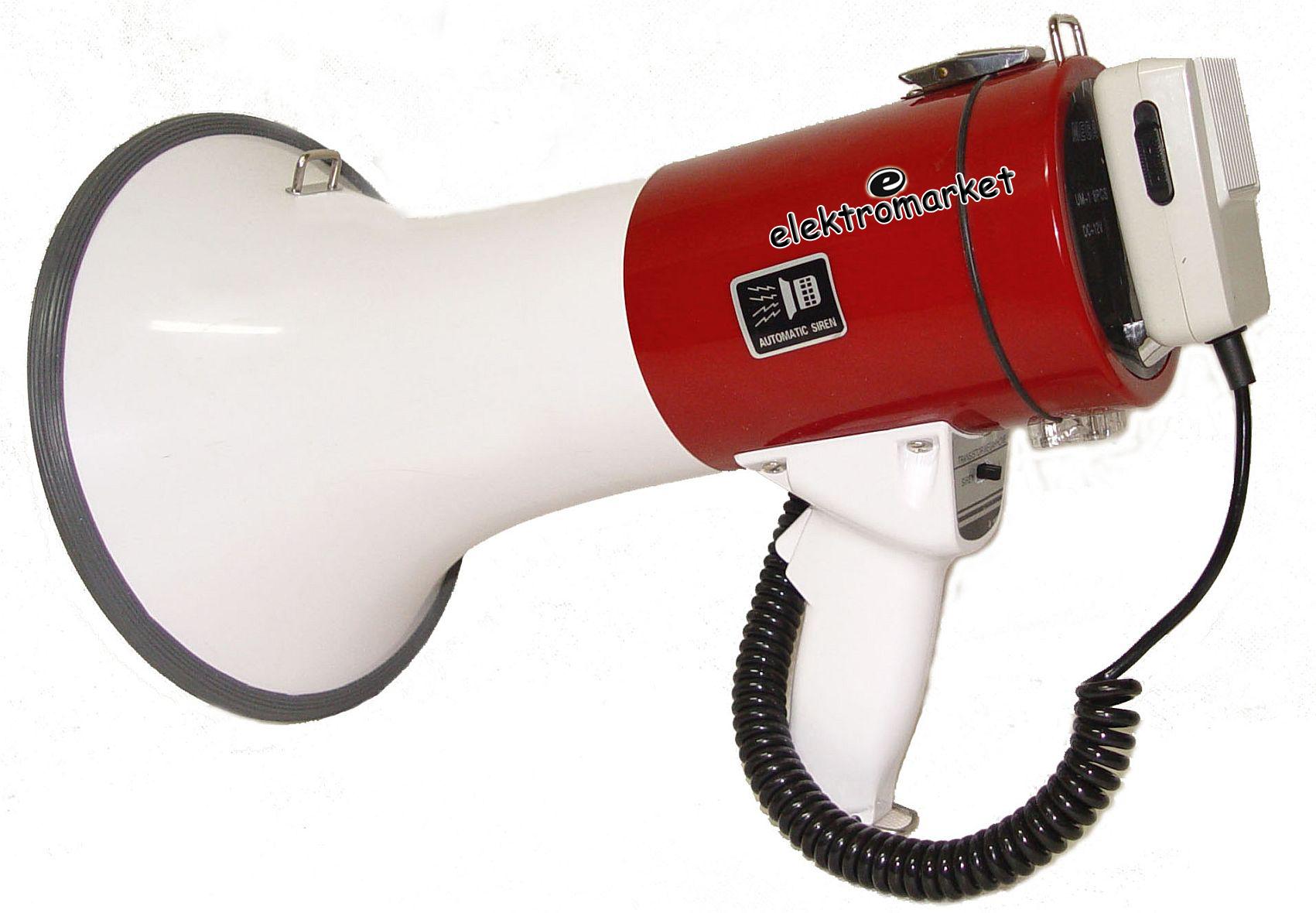 megafon DH-09 z podczepionym mikrofonem
