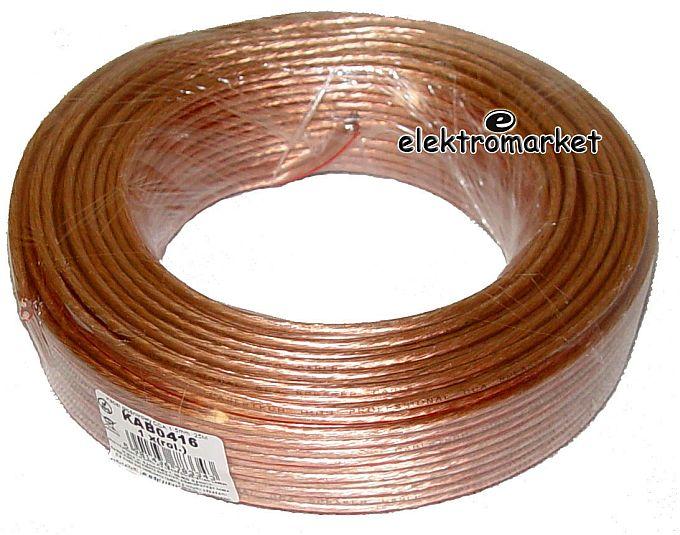 kabel głośnikowy CCA 2x1,5mm rolka 25m
