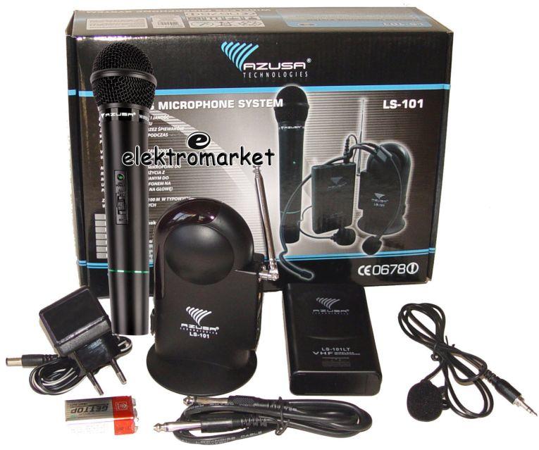 komplet mikrofonów bezprzewodowych MIK2007D do ręki i na klips