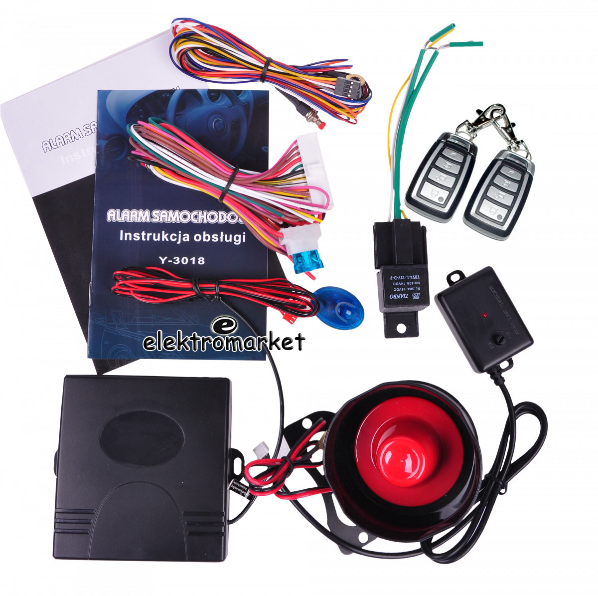 alarm samochodowy peiying PY-3018