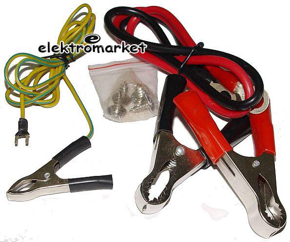 przetwornica z 12V na 230V 1200W max - kable i akcesoria