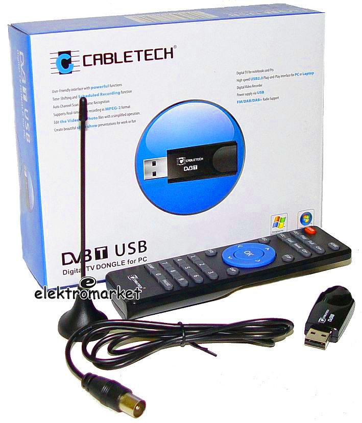 kompletny zestaw tunera komputerowego telewizji DVB-T URZ0184