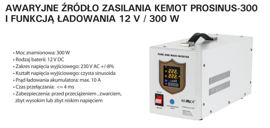 Przetwornica - awaryjne źródło zasilania URZ3404 Prosinus 300