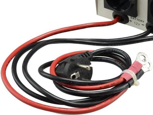 awaryjne zasilanie CO z akumulatora Prosinus-300 z kablami
