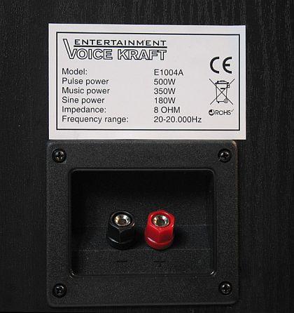 Kolumny Voice Kraft VK-1004 back label